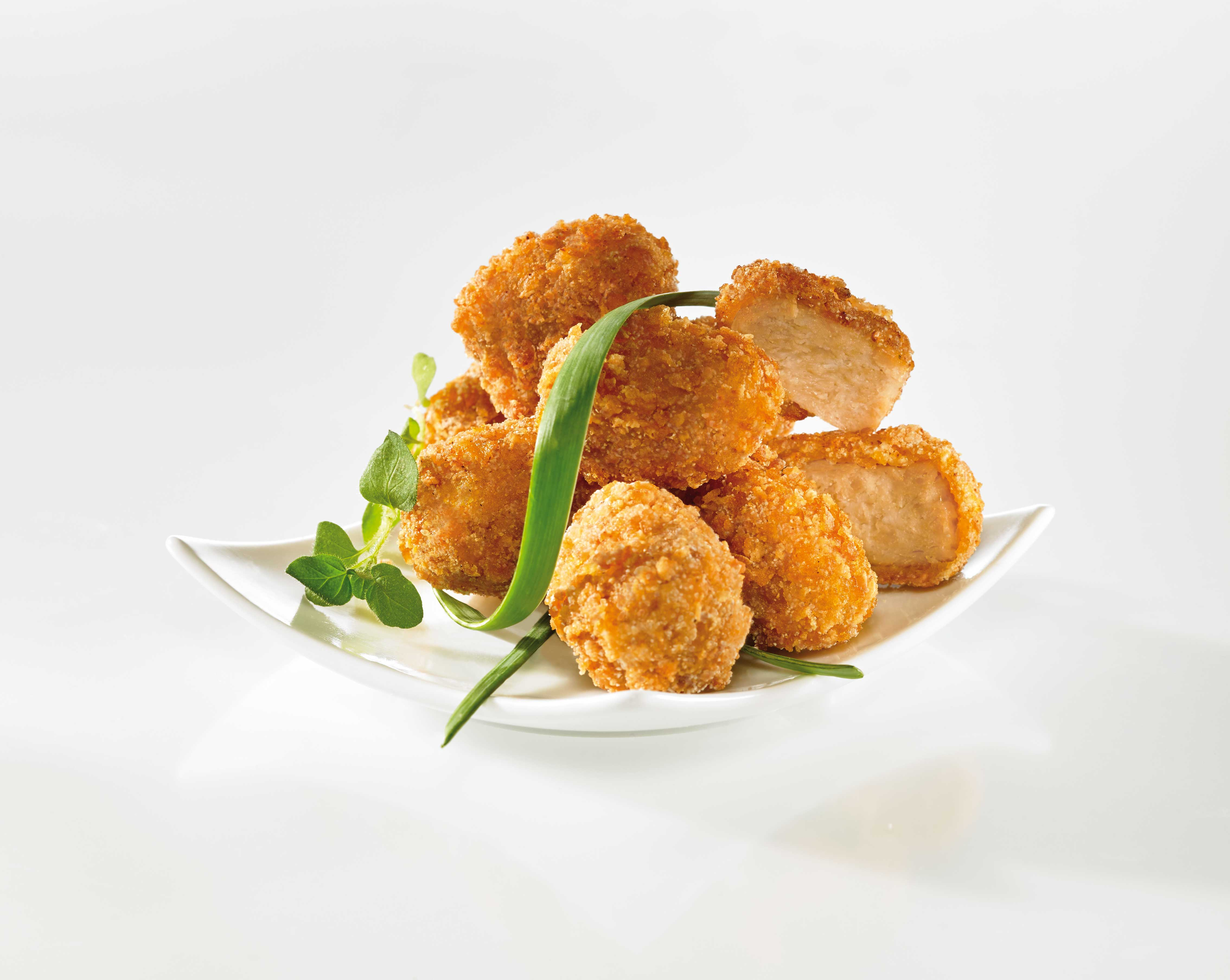 [Translate to Netherlands:] Vegetarische Nuggets PanierQuickGold